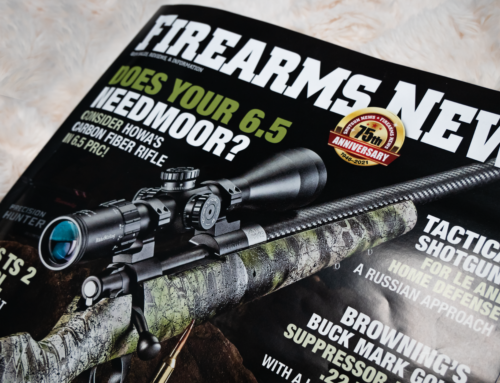 HOWA Carbon Stalker Altitude featured on the front cover of Firearms New / August!