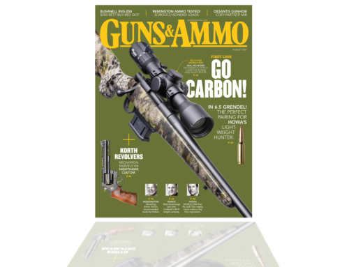 HOWA Carbon Stalker Altitude featured on the front cover of Guns & Ammo / August!