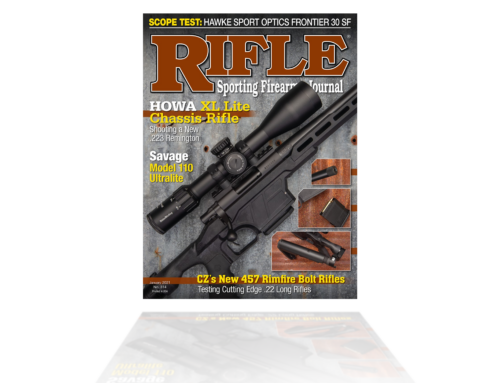 HOWA XL Lite Chassis Featured on the front cover of Rifle Sporting Firearm Journal