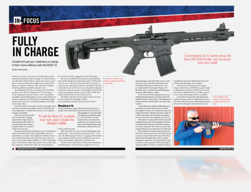 Citadel BOSS25 article gets published in the popular Shooting Sports Retailer magazine